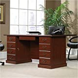 Sauder 109843 Heritage Hill Executive Desk , Classic Cherry Finish