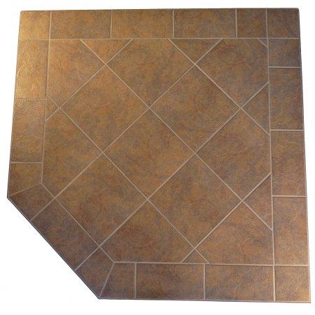 Kalvin International SP12-1228 54 x 54 Corner Hearth Pad - Standard Edge - Black Tint Tile ()