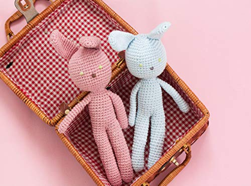 (Crochet bunny toy, plush rabbit, soft toy bunny hand crochet waldorf toy, height 12`(30cm) with ears)
