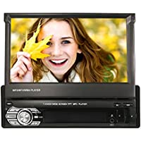 KKmoon 7 Inch Retractable MP5 Player Car Stereo Radio Player Multimedia Entertainment with BT FM USB SD