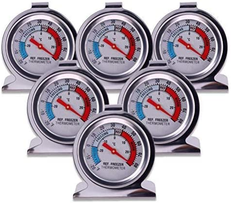 CalmTime Classic Series Large Dial Thermometer Refrigerator Thermometer Freezer Thermometer with Safety Zones