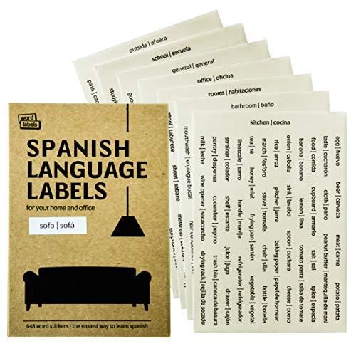 Amazon.com: 648 pegatinas en español / inglés de Word Labels ...