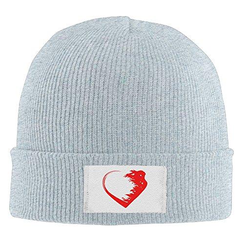 Anaheim Ducks Heart Watch - Creamfly Mens&Women Love Warrior Heart Wool Watch Cap