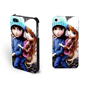 Fashion Cute Couple Lovers Sd Doll For SamSung Galaxy S3 Case Cover Vogue Big Eyes Toy Print For SamSung Galaxy S3 Case Cover for Teen Girls