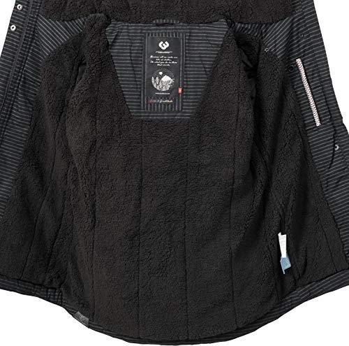 Schwarz2 9 Monade Invierno Chaqueta xl Mujer Colores Ragwear Para Capucha Xs Gestreift Con De 47ax7S8wq