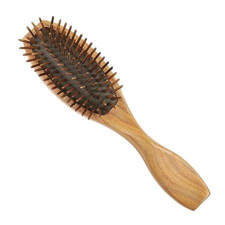 Sin peines estáticos de Madera de Diente Ancho, Peine de Pelo Rizado enredado Peine del Peine del Pelo del Cepillo del Peinado del Pelo Sin peines estáticos ...