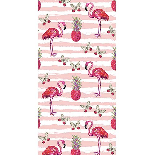CheeseandU Thick Soft Pool Beach Towel Hawaiian Tropical Flowers Pineapple Flamingo Large Microfiber Terry Blanket Picnic Carpet Yoga Mat Boho Tablecloth for Women Girls Kids Gift Photo Prop 60