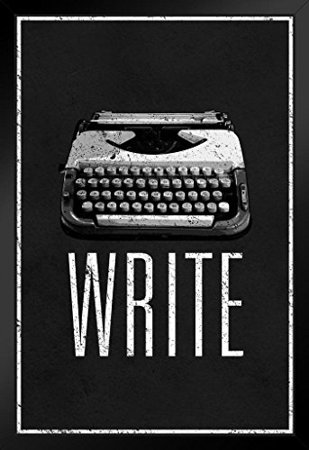 ProFrames Write Retro Manual Typewriter Black and White F...