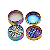 Colourful 4 Piece Metal Tobacco Grinder Herb Spice