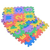 72Pcs EVA Foam Mats Kid's Puzzle Exercise Play Mat Numbers and Letters Square Floor Mat for Kids Playing Crawling 12 x 12cm / 4.7 x 4.7inch