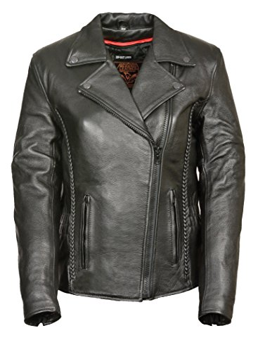 First Manufacturing Women's Blacked Out Hourglass Leather Jacket. - Glasses Out Blacked