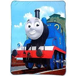 """Thomas the Tank T- Block Silk Touch 46"""" x 60"""" Plush Throw"""