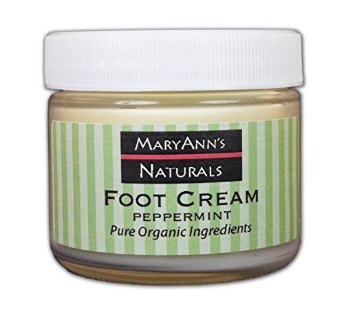 Mary Ann's Naturals Organic Handcrafted Peppermint Foot Cream -
