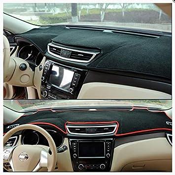 linfei Car Auto Inner Dashboard Cover Dash Mat Carpet Rug For Kia Picanto Morning 2018-2020 Sunshade Lhd Black