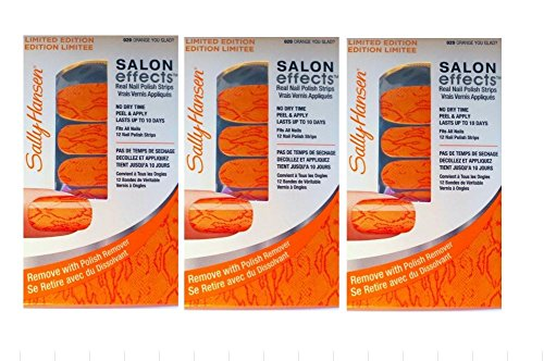 Sally Hansen Real Nail Polish Strips Orange You Glad 020 Limited Edition 3 Pack