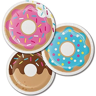 Childrens Baking Donut Birthday Party Dessert Plates 24ct