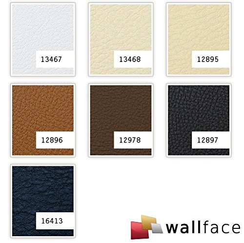 WallFace 12978 LEATHER Wall panel self-adhesive Leather design structure Luxury wallpaper self-adhesive brown | 2,60 sqm by WallFace (Image #2)