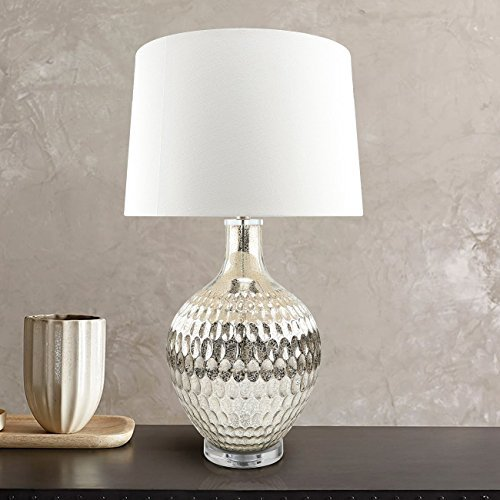 Art Glass Glass Table Lamp - Hand Crafted Mercury Glass Lamp , 30.5