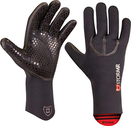 (Stormr Typhoon Men and Women Durable Yet Comfortable Fishing Glove with High Stretch Premium Micro-fleece Lined 3MM Neoprene: Best Used for Ice Fishing, Winter Conditions, and Foul Weather, Black, Medium )