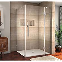 "Aston Avalux Completely Frameless Shower Enclosure, 48"" x 36"" x 72"", Chrome"