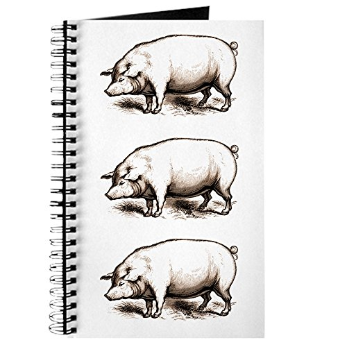 CafePress - Victorian Pig Journal - Spiral Bound Journal Notebook, Personal Diary, Lined