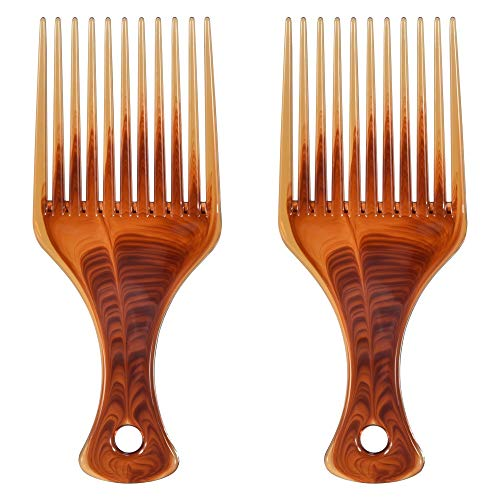 Feeko Hair Pick, 2pcs Super Smooth Picks Comb Hairdressing, used for sale  Delivered anywhere in USA
