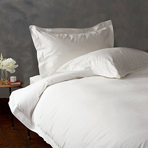 Royal Home Collection 100% Egyptian Cotton 3 PCs- Duvet Cover Set California/King-Cal King, White Solid 600 Thread Count ()