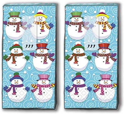 20 Taschentücher (2x 10) Taschentücher Schneemann/Winter / Weihnachten