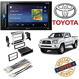 Sale Off Pioneer Multimedia DVD Receiver with 6.2' WVGA Display and Toyota Tacoma 2005-2011 CAR Stereo Receiver Radio Dash Installation MOUNTING KIT