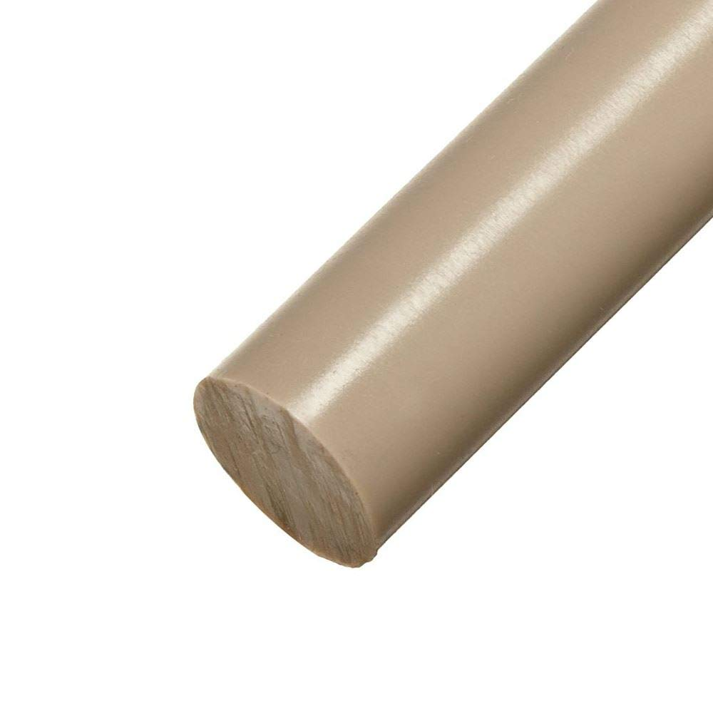 Online Plastic Supply PEEK Round Rod, Diameter: 1.500 (1-1/2 inch), Length: 6 inches by Online Metal Supply