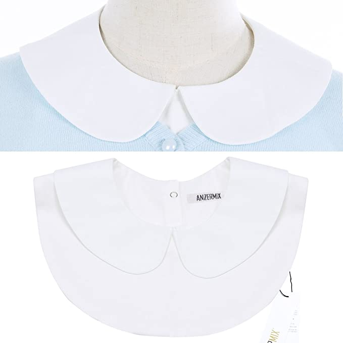 1930s Style Tops, Blouses & Sweaters Anzermix Peter Pan Detachable Shirt Dickey Blouse False Collar 2 Colors $9.99 AT vintagedancer.com
