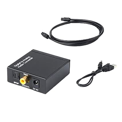 Homyl Audio Converter, Digital to Analog Audio Converter Digital Optical Toslink and Coaxial Inputs to