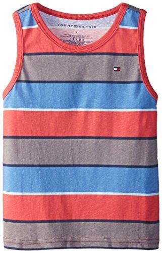 Tommy Hilfiger Little Boys' Bold Stripe Tank, Red Geranium, 04 Regular