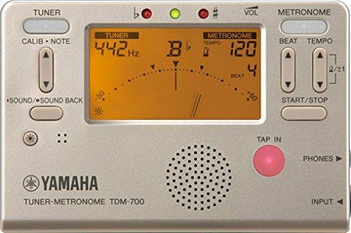 야마하 YAMAHA 튜너 메트로놈 골드 TDM-700G 튜너와 메트로놈이 동시에 쓸만한 듀얼 기능 탑재 사운드 백 기능 일상의 연습으로 최적