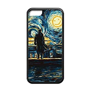 CTSLR Laser Technology Hot TV Show Sherlock TPU Case Cover Skin for Cheap Apple iPhone 5C-1 Pack- Black - 4