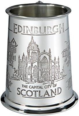 Wentworth - Jarra de cerveza (peltre, 1 pinta), diseño de Edimburgo