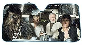 Star Wars:Protector de parasol para coche con dibujo del Halcón Milenario.