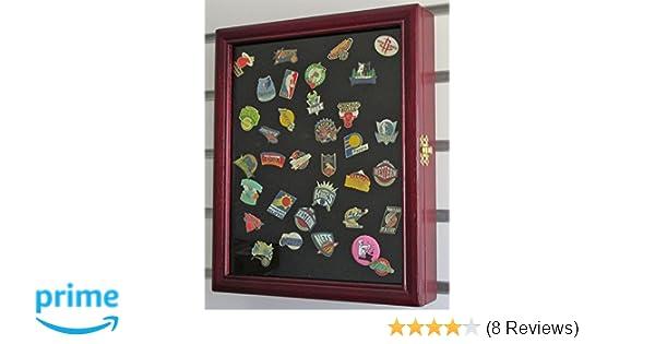 Amazon pinmedal display case shadow box glass door cherry amazon pinmedal display case shadow box glass door cherry finish pc02 ch sports outdoors stopboris Choice Image