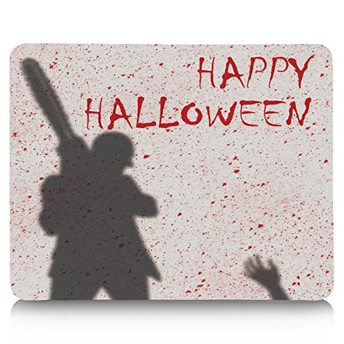 Gaming Mouse Pad, Happy Halloween Chainsaw Killer Non-Slip Rubber Base Mousepad Rectangle Mouse Mat for Laptop, Computers, Office & Home]()