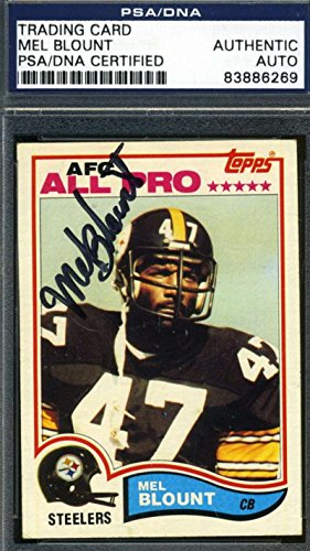 MEL BLOUNT 1981 TOPPS PSA/DNA ORIGINAL SIGNED AUTHENTIC AUTOGRAPH by KHW HALL OF FAME GALLERY