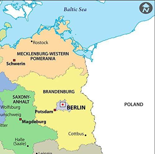 Alemania mapa político – LAMINADO (36
