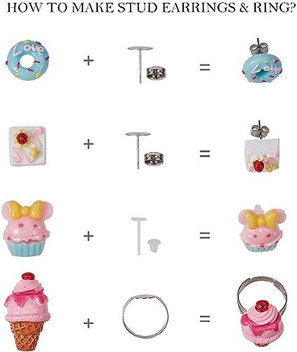 Ice Cream Stud Earrings Kawaii Earrings 12MM Ice Cream Studs Ice Cream Print Stud Earrings Junk Food Earrings Ice Cream Earrings