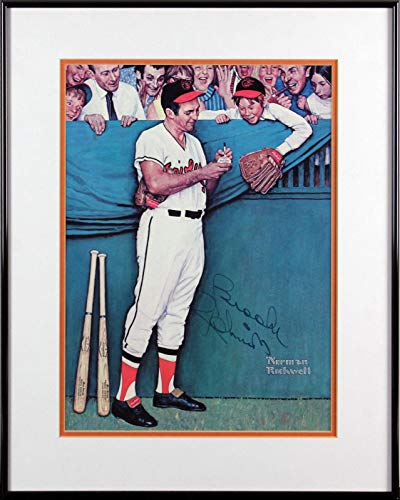 - Orioles Brooks Robinson Signed & Framed 11x15 Norman Rockwell Lithograph BAS - Beckett Authentication