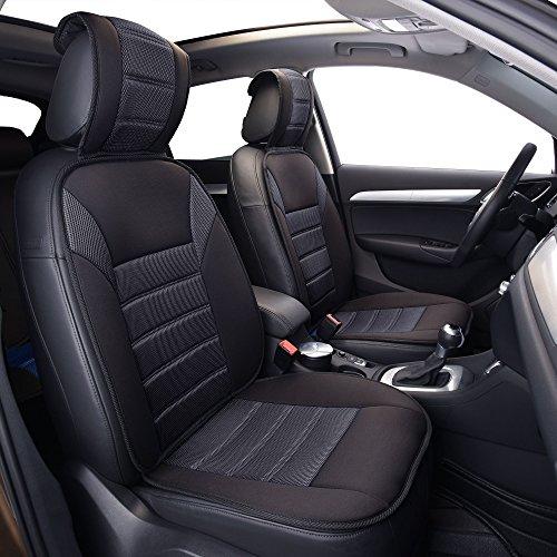 FH Group FB201BLACK102 Black Front Ultra Fine Seat Cushion Pad