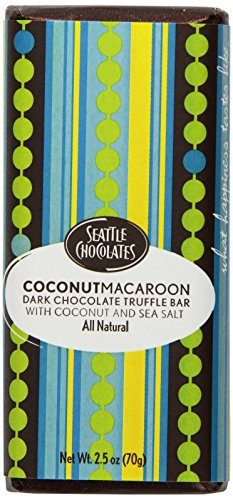 Seattle Chocolates Bar, Coconut Macaroon, 2.5 Ounce (Pack of 12)