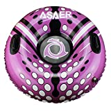 ASAER Snow Tube - Air Tube 39 Inch Inflatable Snow/Sled with Rapid Valves - Aqua Leisure Winter Inflatable Round Snow Tube with vinyl tube repair kit - With thickening bottom of 45mm!!(Purple)
