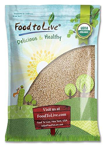 Organic Royal White Quinoa by Food To Live (Raw, Whole Grain, Non-GMO, Kosher, Bulk) - 5 Pounds