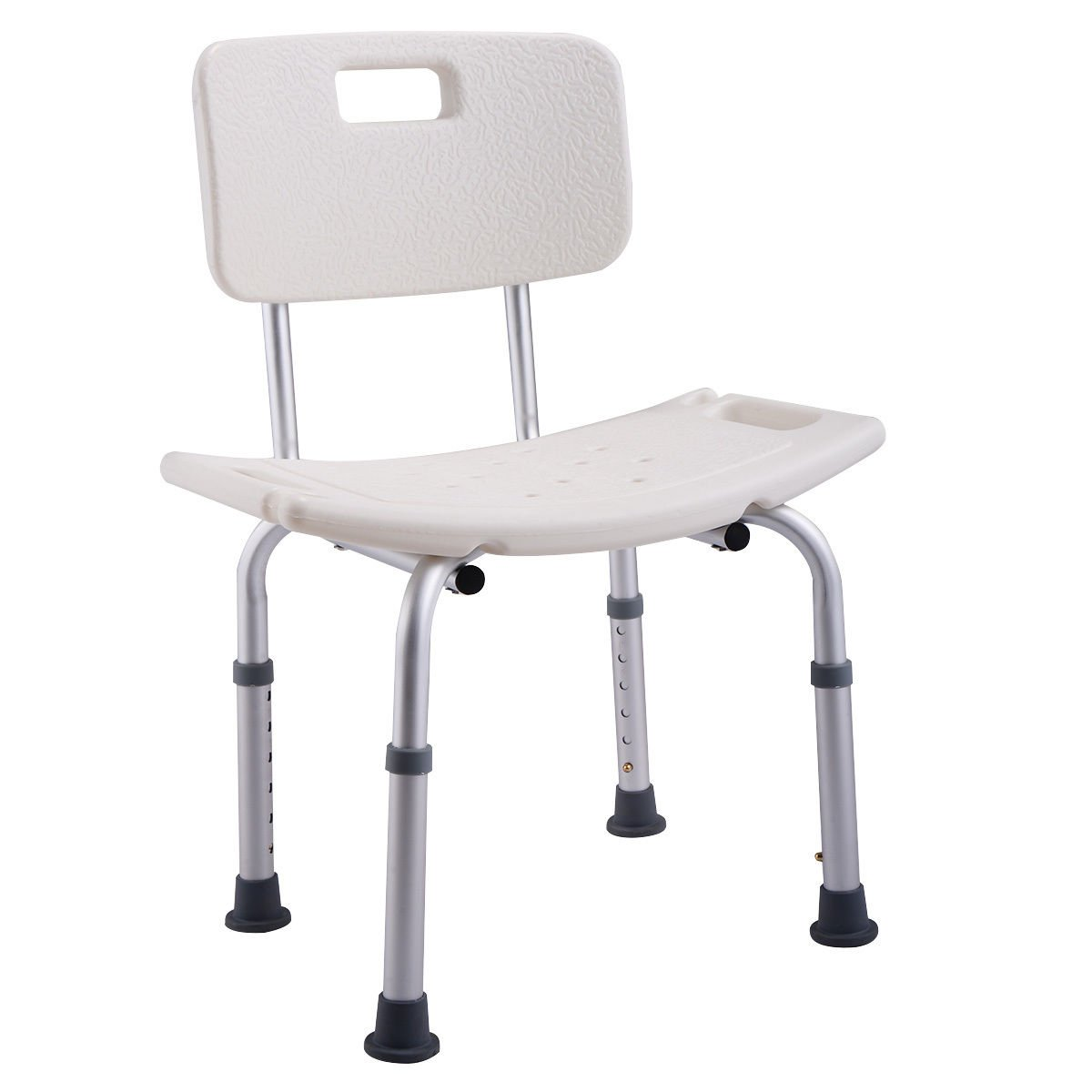 Goplus Medical Shower Bath Chair 6 Height Adjustable Bathtub Stool