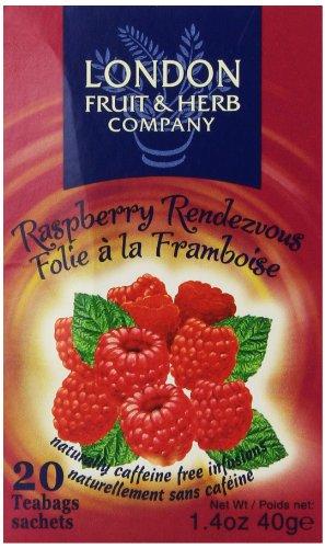 London Fruit Tea (London Fruit & Herb Company Raspberry Rendezvous Tea, 20 Tea Bags, 1.4 Oz)