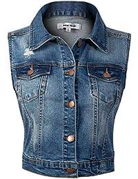 Women's Classic Casual Vintage Denim Jean Jacket/Vest